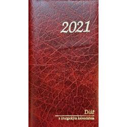 Kapesní diář na rok 2021 s liturgickým kalendářem